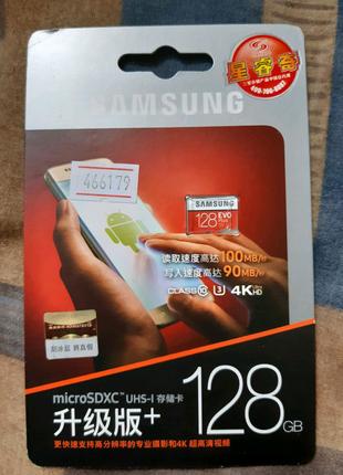 Карта памяти, micro SD card, Samsung EVO plus 128 гб