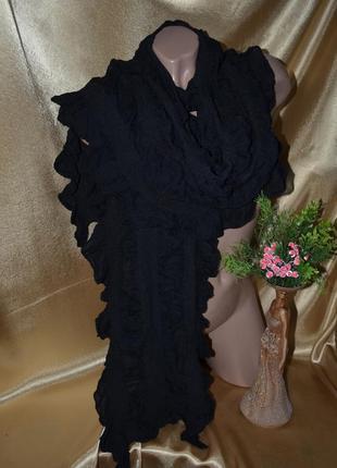 Классический , оригинальный , черный шарф