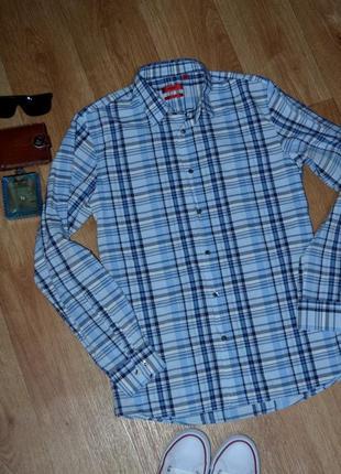 Шикарная оригинальная рубашка hugo boss slim fit