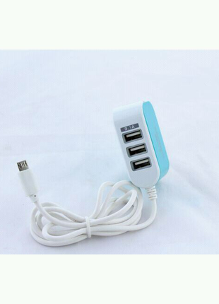 Адаптер 8600 3 Usb Micro v8