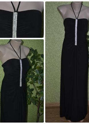 Английское,шикарное, строгое, нарядное, вечернее черное платье...