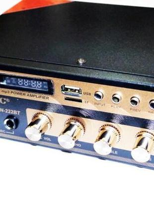 Усилитель UKC SN-222BT - Bluetooth, USB,SD,FM,MP3! Караоке