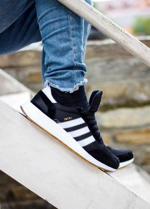 Кросівки adidas iniki runner core black кроссовки