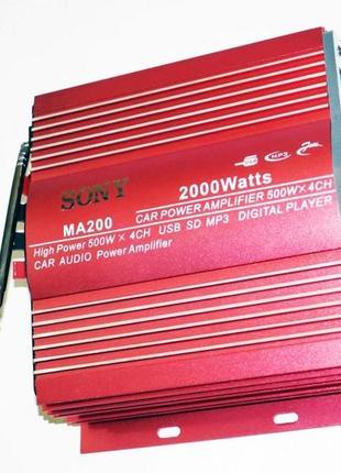 Усилитель Sony MA-200 - USB, SD-карта, MP3 4х канальный