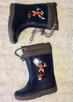 Резиновые сапоги для мальчика размер 21