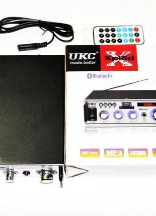 Усилитель UKC SN-004BT - Bluetooth, USB,SD,FM,MP3! 300W+300W К...