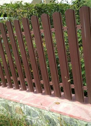 Штакетник штахетник металлический для забора и ворот двух сторон