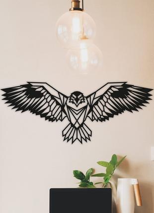 Декоративное панно из дерева Орел 110х45 см