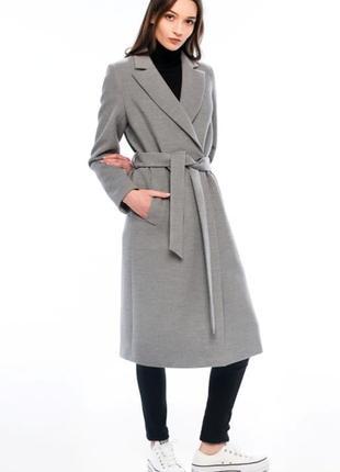 Женское осеннее пальто season светло-серого цвета