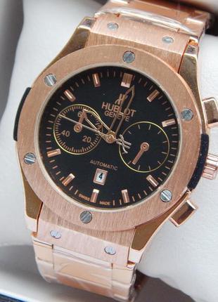 Мужские наручные часы золотистого цвета на стальном браслете, ...
