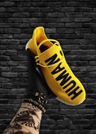 Мужские кроссовки adidas nmd human race green yellow (желтые)