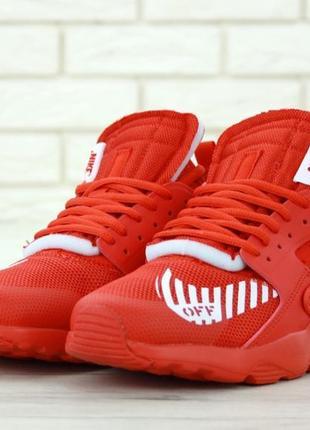 Хайповые кроссовки 💪 nike air huarache х off white  red 💪