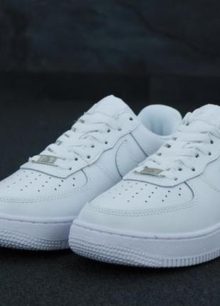Мужские кроссовки nike air force full white.
