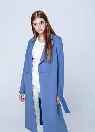 Женское осеннее пальто season голубого цвета