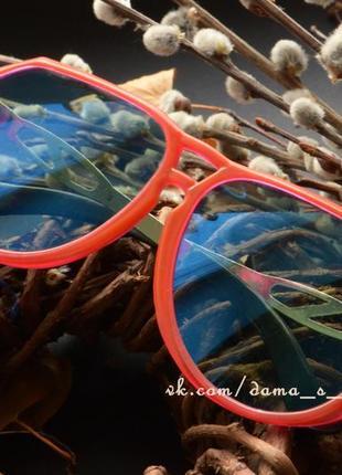 Яркие винтажные очки, стекло