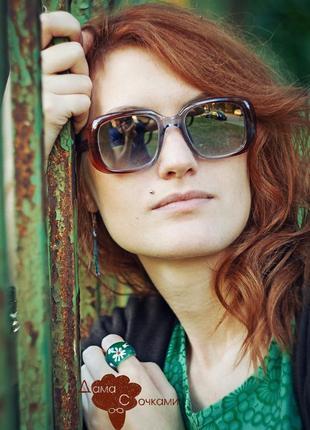 Суперские солнцезащитные очки винтаж, стекло