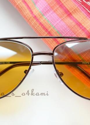 Очки-капли с линзами антифара, стекло, новые