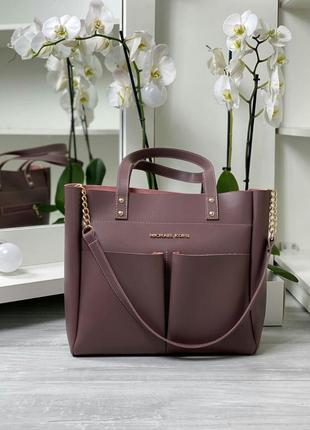 Женская вместительная сумка, лилового цвета