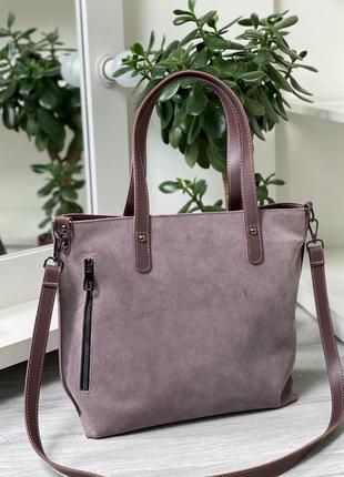 Женская повседневная сумка, цвет лиловый