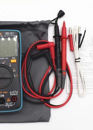 Мультиметр тестер Вольтметр амперметр с датчиком температуры