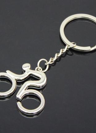 Брелок для ключей, велосипедист