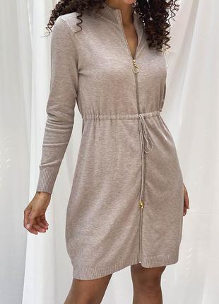 Платье с длинным рукавом