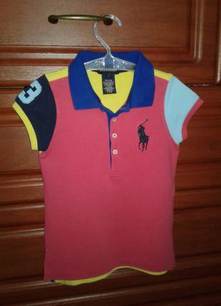 Ralph lauren оригинальная футболка-поло девочке 4т