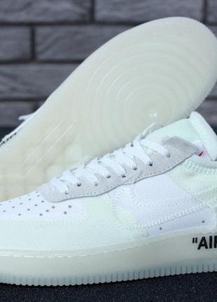 Мужские стильные кроссовки nike air force x off-white.
