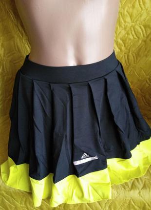 Юбка со вшитыми шортиками adidas by stella mccartney отлично д...