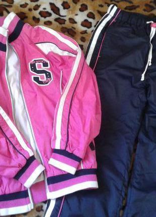Костюм куртка штаны плащевый утепленный basic mini девочке 8-1...