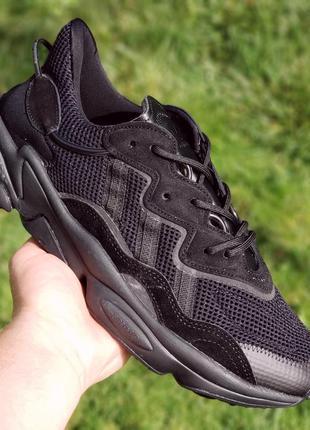 Женские кроссовки adidas ozweego all black