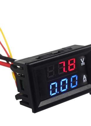 Автомобильный Вольтметр Амперметр электронный цифровой