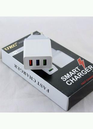 Адаптер Fast Charge AR 001 3 USB