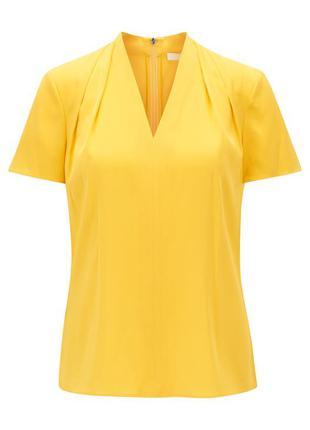 Крута шовкова блуза boss hugo boss топ футболка шелк