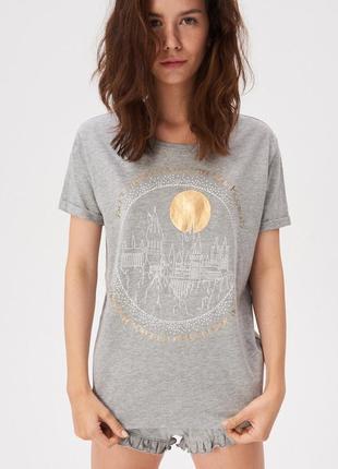 Новая серая пижама футболка шорты sinsay harry potter гарри по...