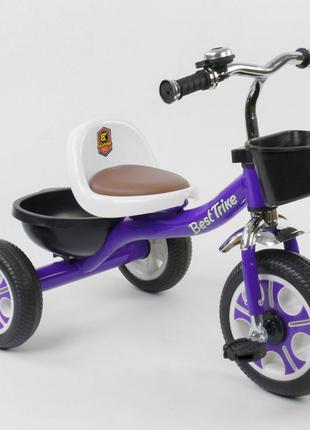 Трехколесный велосипед Best Trike 1355 Фиолетовый, колеса пена