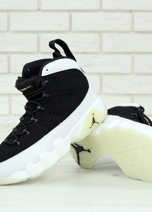 Мужские демисезонные кожаные кроссовки nike air jordan.
