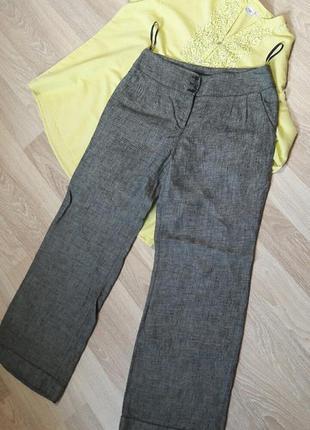 Льняные брюки широкие, юбка-брюки next