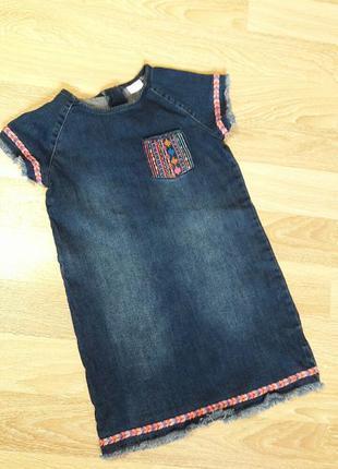 Распродажа!  джинсовое платье на девочку f&f kids