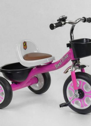 Трехколесный велосипед Best Trike 2806 розовый, колеса пена