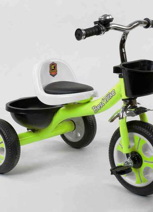 Трехколесный велосипед Best Trike 3109 салатовый, колеса пена