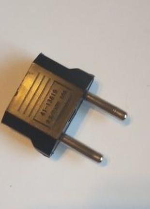 Адаптер, переходник с плоской на круглую розетку (USA-EUR)