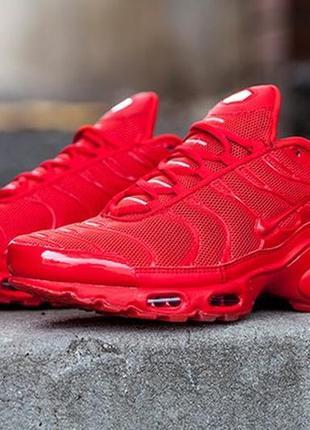 Мужские кроссовки найк nike air max tn plus red.