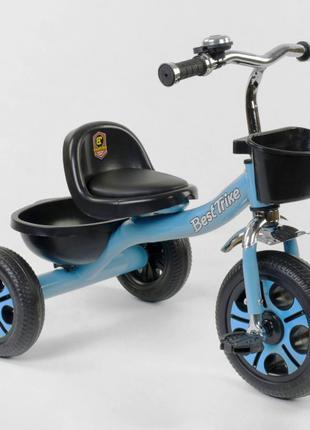 Трехколесный велосипед Best Trike 4405 голубой, колеса пена