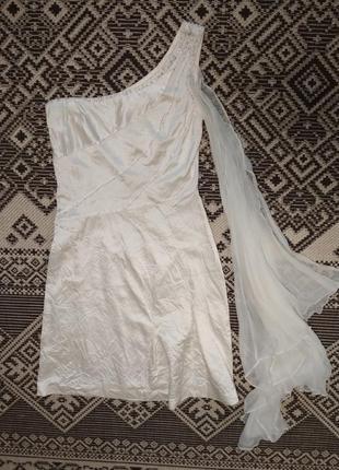 Шикарное шелковое платье расшитое стеклярусом от vladimir, p. s-m