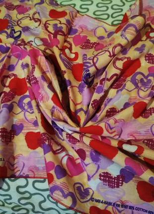 Классный маленький шарфик платок в сердечки от hav-a-hank