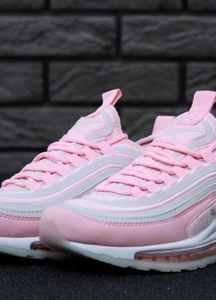 Женские кроссовки nike air max 97 pink.