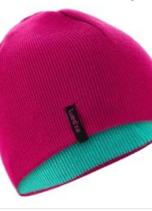 Отличная двусторонняя шапка для девочки от wed'ze decathlon