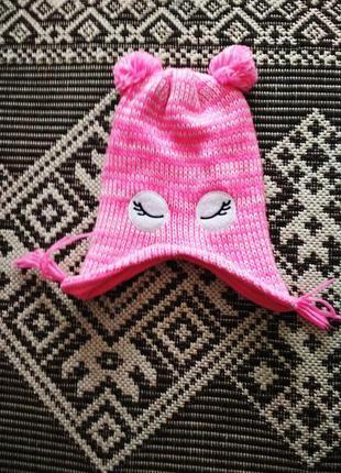 Классная шапка на флисе для малышки р. 92 от pepco
