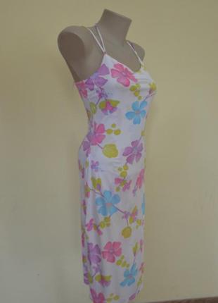 Очень красивое французское нежное трикотажное платье из вискозы
